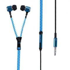 2015 New Arrival 3.5 MM Jack In-ear Zip Zipper Stereo Hands-free Headphone Earphone Earbud Mic Hot