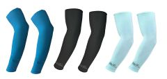 Hi Cool Arm Sleeves for UV Sun Protection and sports(Blue, Black, Green) - 3 pairs