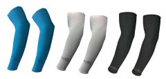Hi Cool Arm Sleeves for UV Sun Protection and sports(Blue, Grey, Black) - 3 pairs