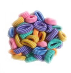 Atyourdoor Multistripe Hair Rubber Bands for Girls - 50 Pieces