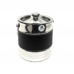 Graminheet Stainless Steel Ice Bucket 1500ml with Leather Belt