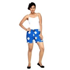 London Bee Blue Printed Womens Boxer - Code(WLB0016)