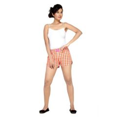 London Bee Checkered Women's Boxer - (Code - WLB0020)
