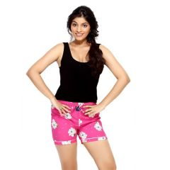 London Bee Pink Printed Womens Boxer - Code(WLB0015)