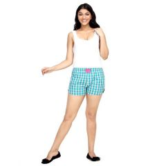 London Bee Checkered Women's Boxer - (Code - WLB0019)