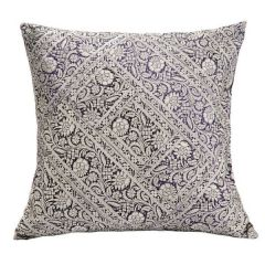 Jodhaa Cotton Black-White Cushion Cover