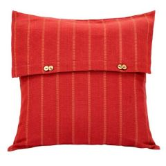 Jodhaa Cotton Rust Cushion Cover (Code - 21CCVA035)