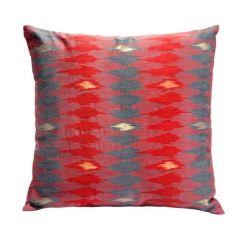 Jodhaa Polyster Red Cushion Cover (Code - 21CCVA043)