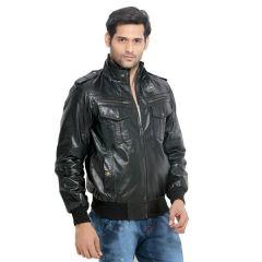London Bee Men's Leather Jacket- (Code- MLJLB0001)