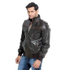 London Bee Men's Leather Jacket- (Code- MLJLB0002)