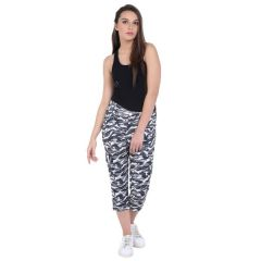 Loco En Cabeza Army Print Cotton Women's Pant  (Product Code - CZWP0014)