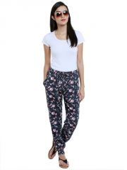 Loco En Cabeza Printed Rayon Elasticated Bottom Lounge Pant for Womens (Product  Code -    CZWPY0008)