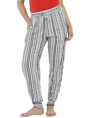 Loco En Cabeza Printed/ Striped Elasticated Bottom Lounge Pant (Code - CZWPY0009)