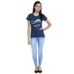 Loco En Cabeza Cotton Solid T Shirt for Womens (Product  Code -  CZWT0078)