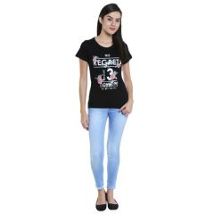 Loco En Cabeza Cotton Solid T Shirt for Womens (Product  Code -  CZWT0095)