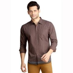 London Bee Men's Cotton Leaf Print Long Sleeve Slim Fit Shirt - ( Product Code - MLSLB0088 )