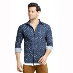 London Bee Men's Cotton Printed Long Sleeve Slim Fit Shirt - ( Product Code - MLSLB0096 )