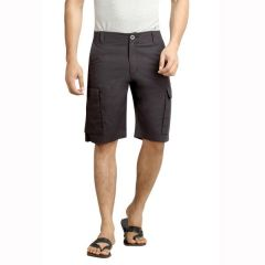 London Bee Solid Men's Cargo Shorts - ( Product Code - MSLB0040 )