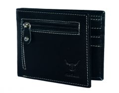 Hidelink Men Black Genuine Leather Wallet (SWP4143)