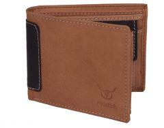 Hidelink Men Brown Genuine Leather Wallet (SWP114093)
