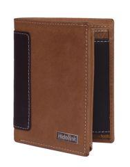 Hidelink Men Tan Genuine Leather Wallet (SWP4112)
