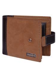 Hidelink Men Tan Genuine Leather Wallet (SWP4122)