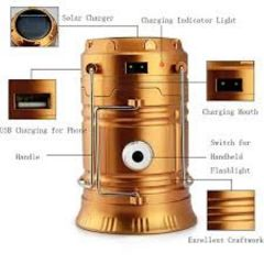 6 led Rechargeable Camping Lantern CL - 5800T