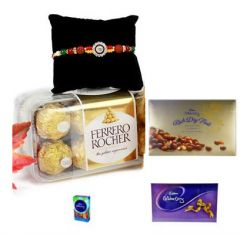 Rakhi Online - Chocolate with AD Rakhi