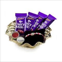 Rakhi online -Chocolate and Rakhi Hamper