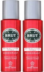 Brut Attraction Totale Deodorant Spray - For Men  (400 ml, Pack of 2)