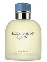 Dolce & Gabbana Light Blue Pour Homme EDT For Men  125 ml / 4.2 oz  ( Unboxed )