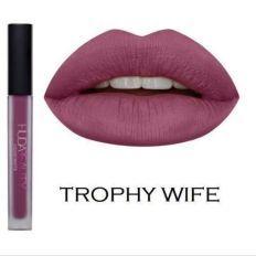 HUDA Liquid Matte Lipstick - TROPHY WIFE SIZE 0.17 oz/ 5ml (KISS PROOF)