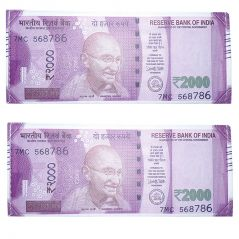 New Indian 2000 Rupee Note Currency Design Wallet / Purse Set Of 2 Pic