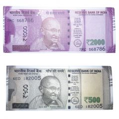New Indian RS.2000   RS.500 Note Currency Design Woterproof Wallet Purse Gift