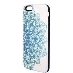 Xcelmobi New Fashion White and Blue Lotus Print Back Cover for Apple iPhone 6 Plus