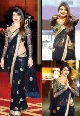 Rcpc Bollywood Replica Black Net Saree Rpb224