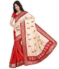 Bikaw Designer Red Bhagalpuri Silk Saree (bhagal_red1)