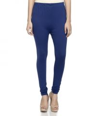 Laabha Womens Cotton Lycra Dark Royal Blue Cotton Stretchable Churidar Legging (code - Lg-116l_l) L