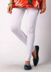 White Cotton Lycra Leggings Rcd2005