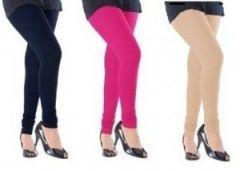 Alien Sale Multicolor Cotton Lycra Leggings - Combo Of 3