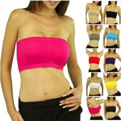 Pack Of 12 Multicolor Tube Bra