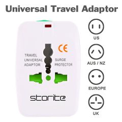 Storite International All in One Universal World Wide Travel Plug Adapter