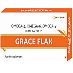 Grace Flaxseed Oil Veg 500Mg - 30 Capsules