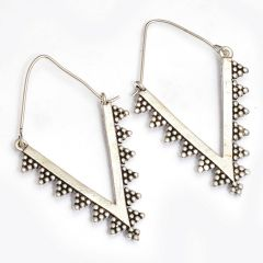 Sparkle Oxidized plated Earrings (code - ER-004-10-17)