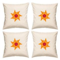 Digital Print Canvas Cushion Cover 16 Inches Set Of 4 By Admire Home (code - Sofa Ahcc003)