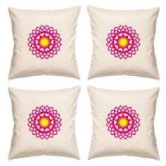 Digital Print Canvas Cushion Cover 16 Inches Set Of 4 By Admire Home (code - Sofa Ahcc006)