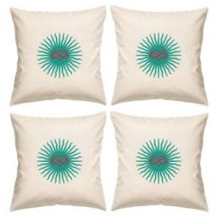 Digital Print Canvas Cushion Cover 16 Inches Set Of 4 By Admire Home (code - Sofa Ahcc007)
