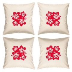 Digital Print Canvas Cushion Cover 16 Inches Set Of 4 By Admire Home (code - Sofa Ahcc008)