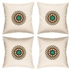 Digital Print Canvas Cushion Cover 16 Inches Set Of 4 By Admire Home (code - Sofa Ahcc010)