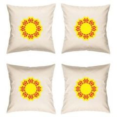 Digital Print Canvas Cushion Cover 16 Inches Set Of 4 By Admire Home (code - Sofa Ahcc015)
